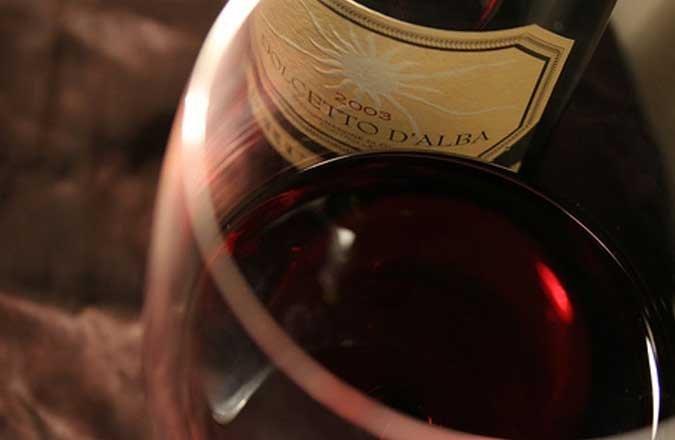 Copa de vino dolcetto