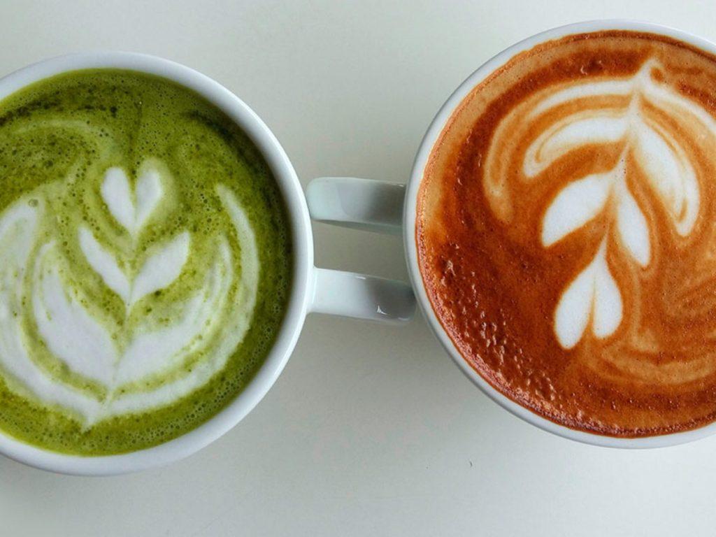 café y matcha