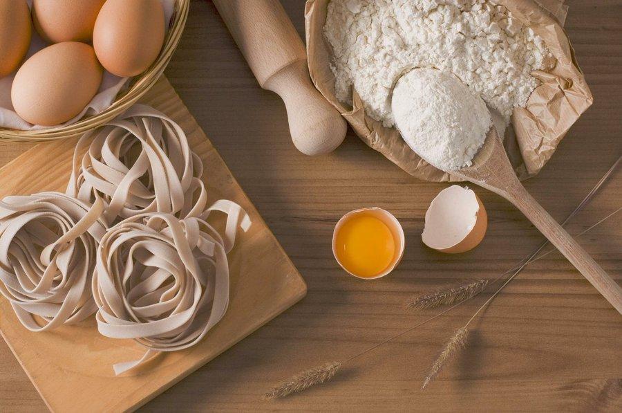 harina, huevo y pasta casera